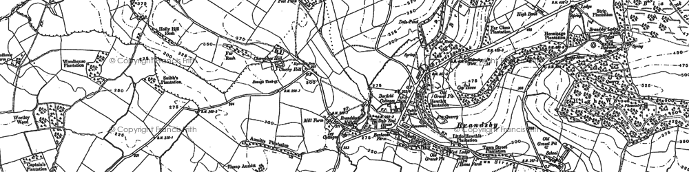 Old map of Brandsby in 1889