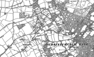 Old Map of Bransgore, 1896 - 1907