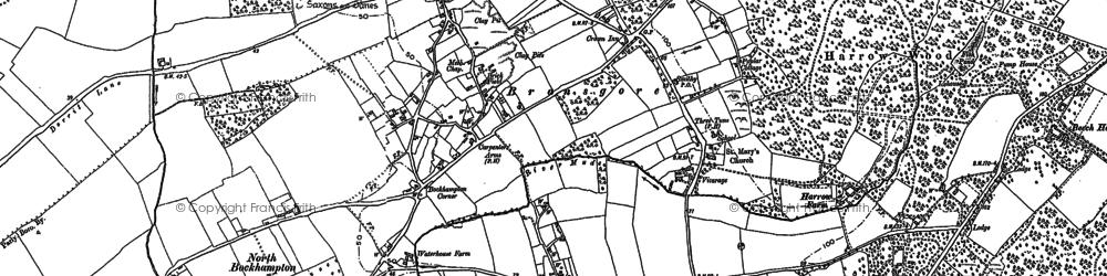 Old map of Bransgore in 1896