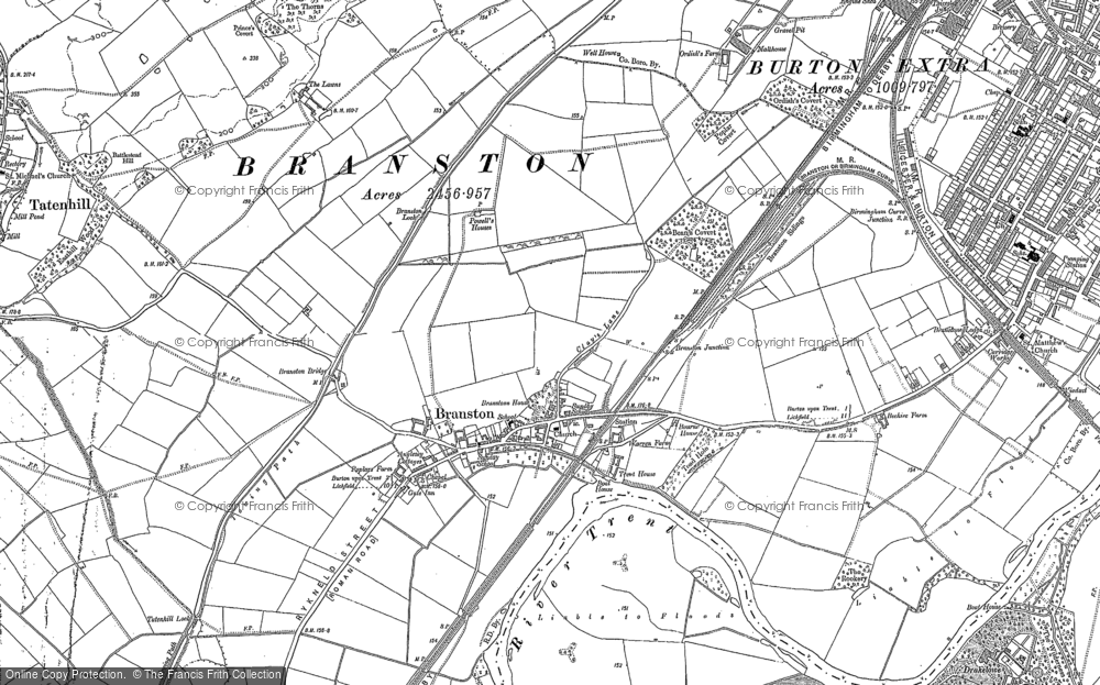 Old Map of Branston, 1882 - 1900 in 1882