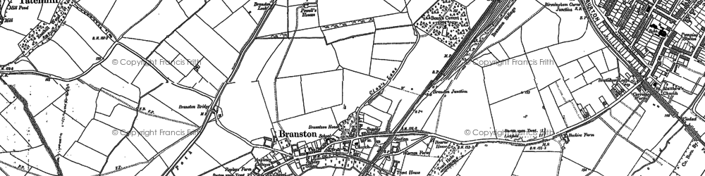 Old map of Branston in 1882