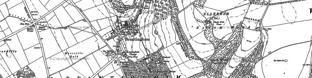 Old map of Brantingham in 1888