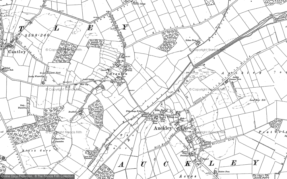 Old Map of Branton, 1901 in 1901