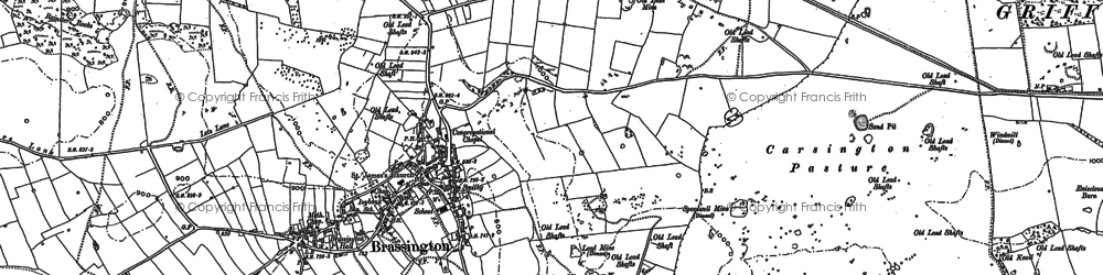 Old map of Longcliffe in 1879