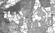 Old Map of Brasted Chart, 1907
