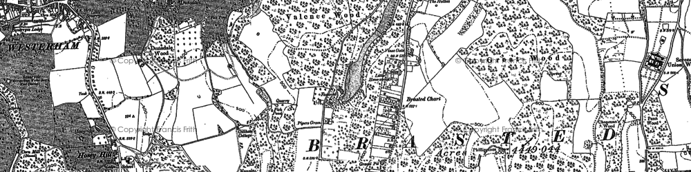 Old map of The Chart in 1907