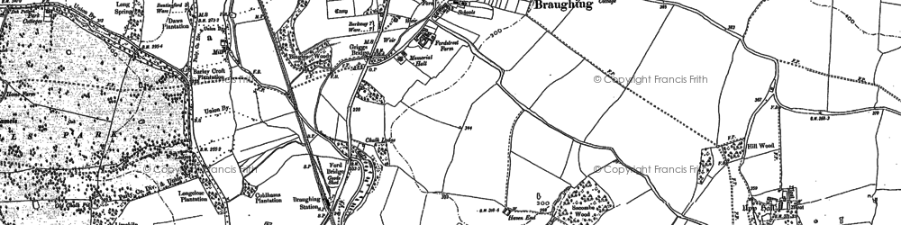 Old map of Green End in 1919