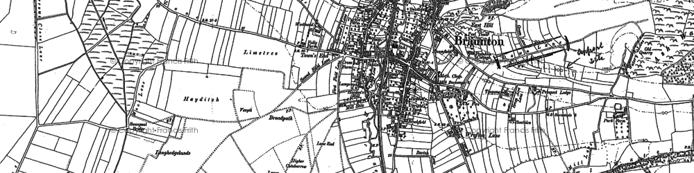Old map of Braunton in 1903
