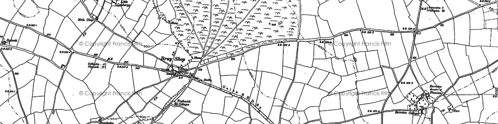 Old map of Kersbrook Cross in 1882