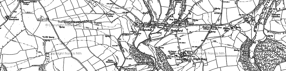 Old map of Whitefield in 1887