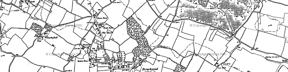 Old map of Darleyhall in 1899