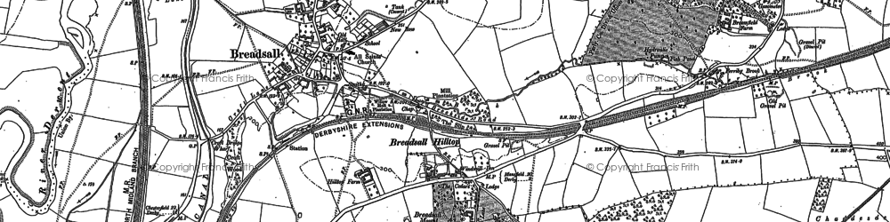 Old map of Breadsall Hilltop in 1882