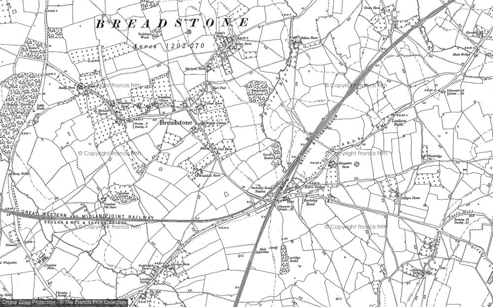 Old Map of Historic Map covering Berkeley Road in 1882
