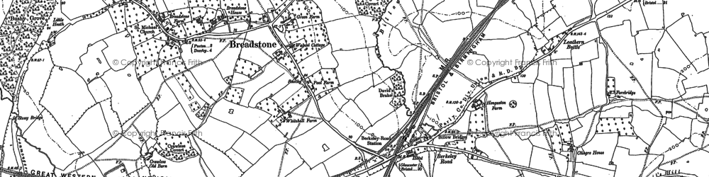 Old map of Berkeley Road in 1882