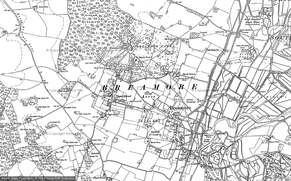 Old Map of Breamore, 1895 in 1895