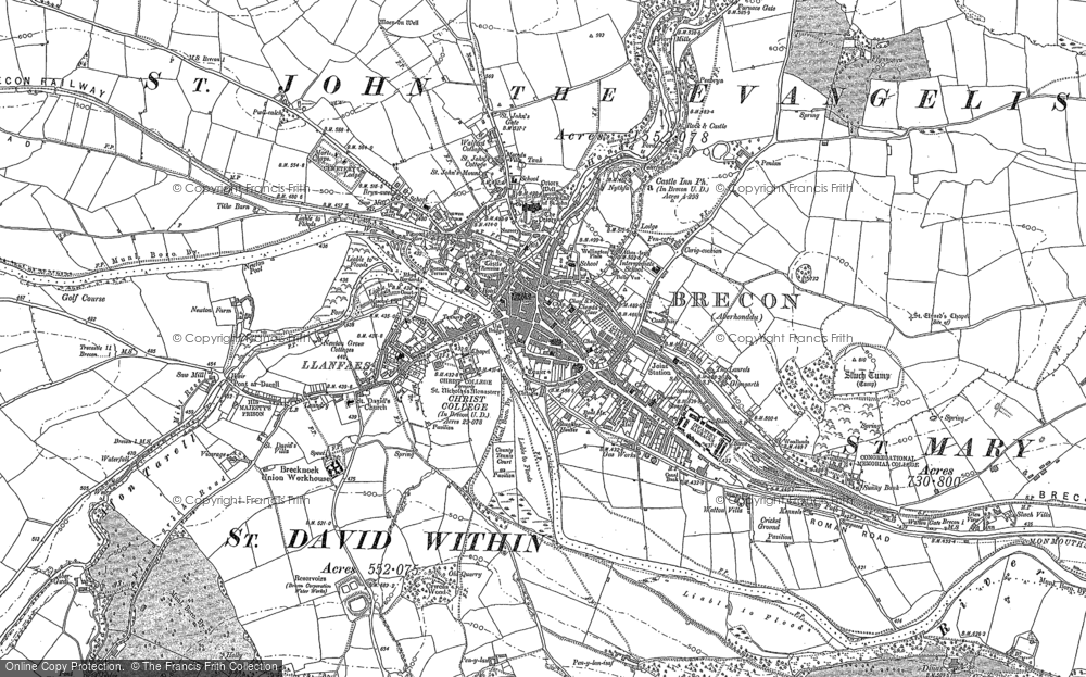 Map of Brecon, 1886 - 1887