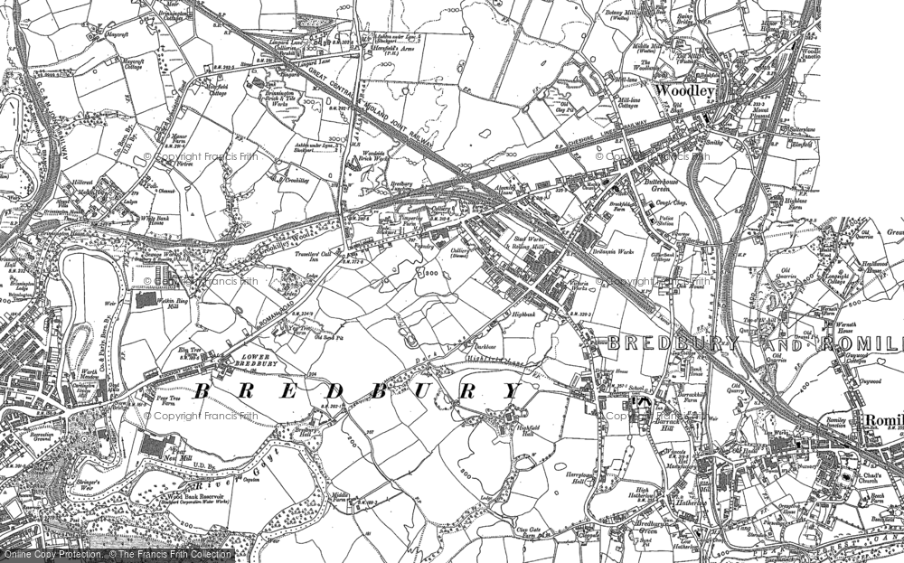 Old Map of Historic Map covering Woodbank Park in 1907