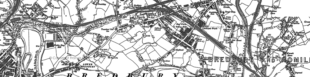 Old map of Bredbury in 1907