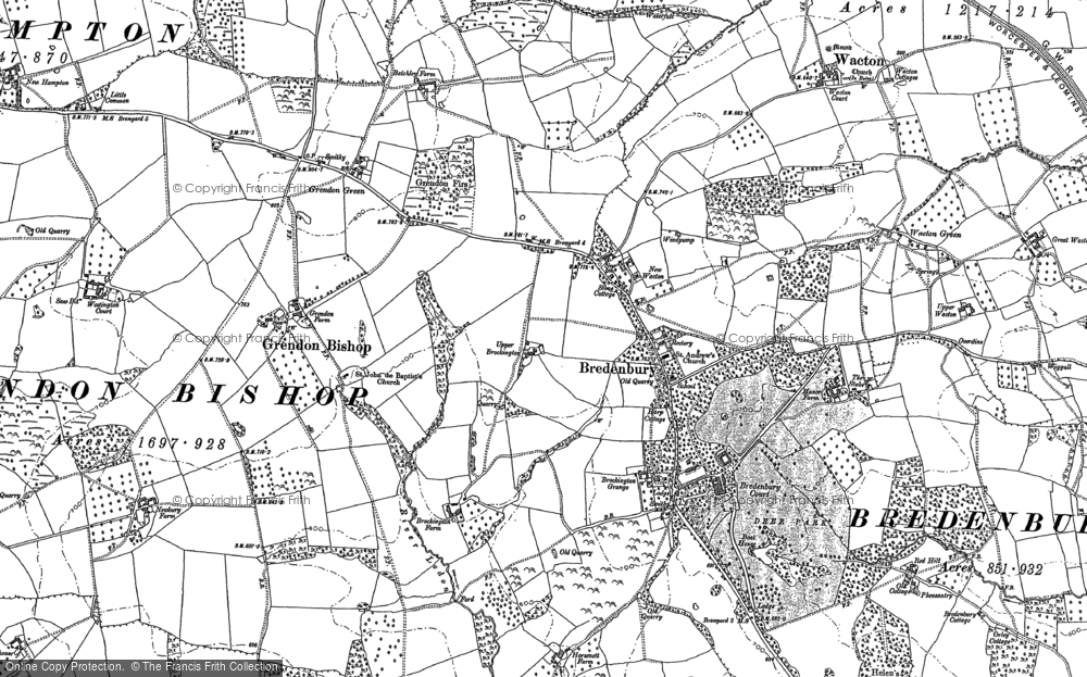 Old Map of Historic Map covering Wiggall in 1885