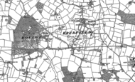 Old Map of Bredfield, 1881