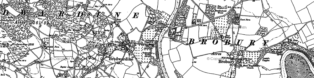 Old map of Westonhill Wood in 1886