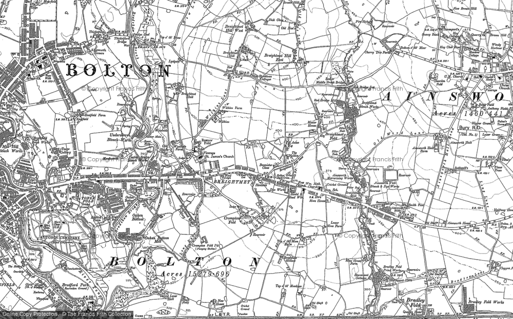 Old Map of Breightmet, 1890 - 1891 in 1890
