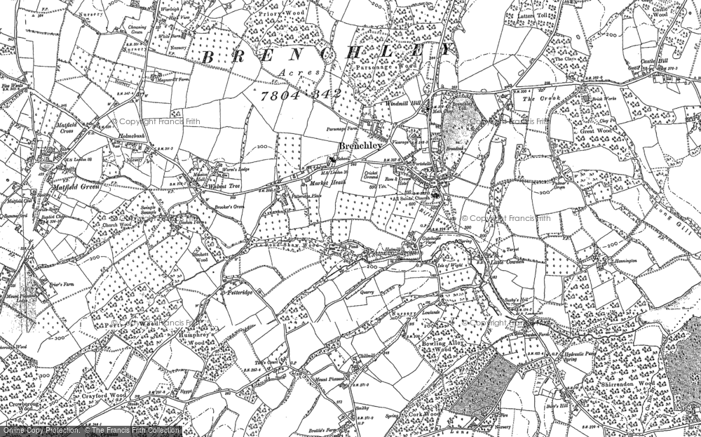 Old Map of Historic Map covering Tibb's Court in 1895