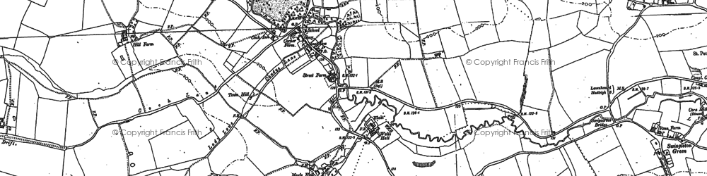 Old map of Brent Eleigh in 1884