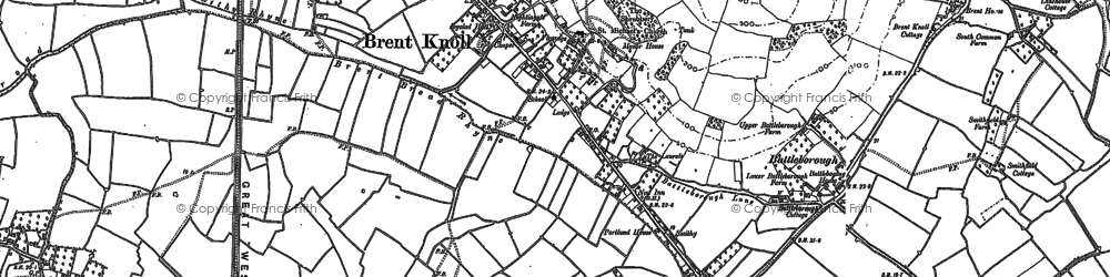 Old map of White Cross in 1884
