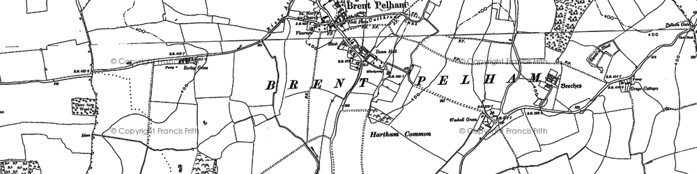 Old map of Whitebarns in 1896