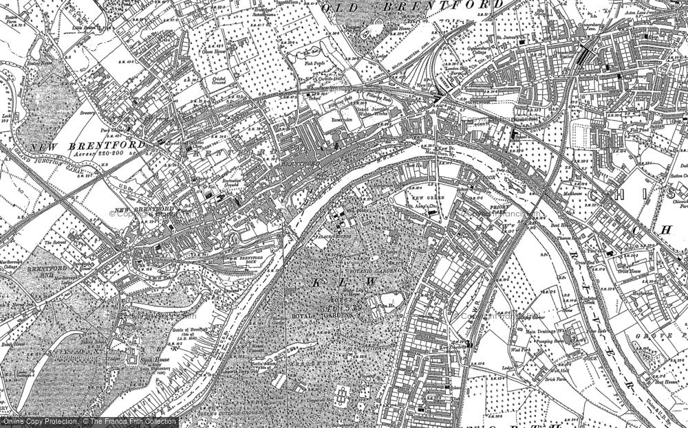 Map of Brentford, 1893 - 1894