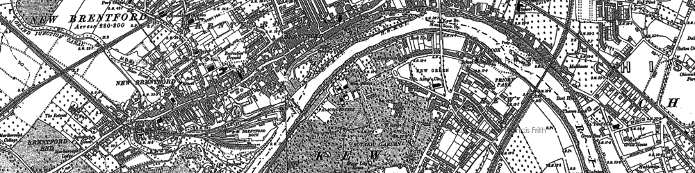 Old map of Brentford in 1893