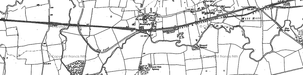 Old map of Brentingby in 1902