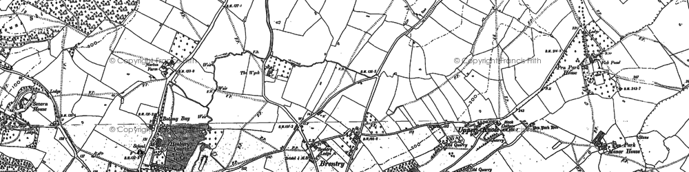 Old map of Brentry in 1880