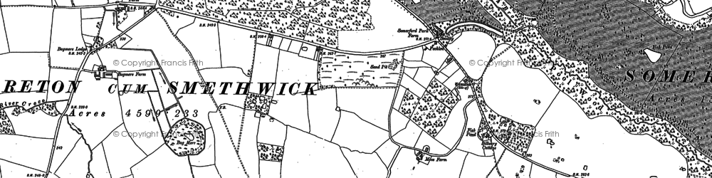 Old map of Brereton Heath in 1896