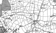 Old Map of Bretford, 1886