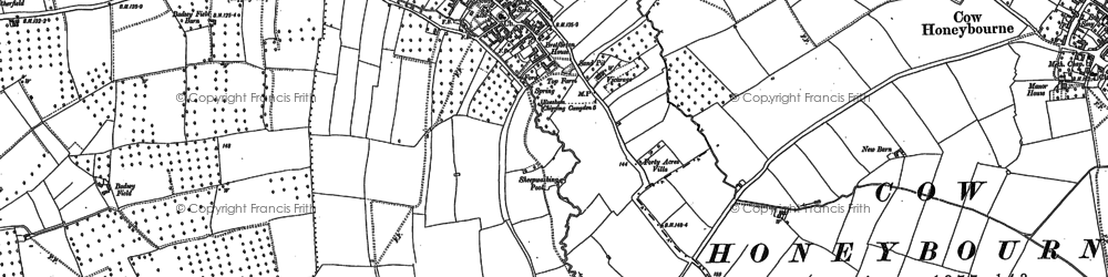 Old map of Badsey Field in 1883