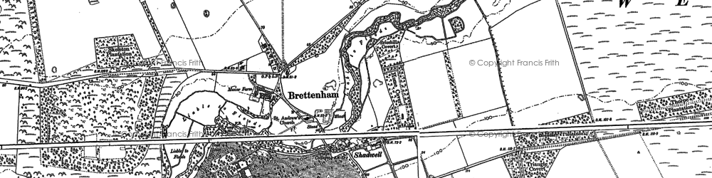 Old map of Langmere Boxes in 1883