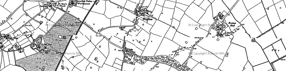 Old map of Saltney Ferry in 1898