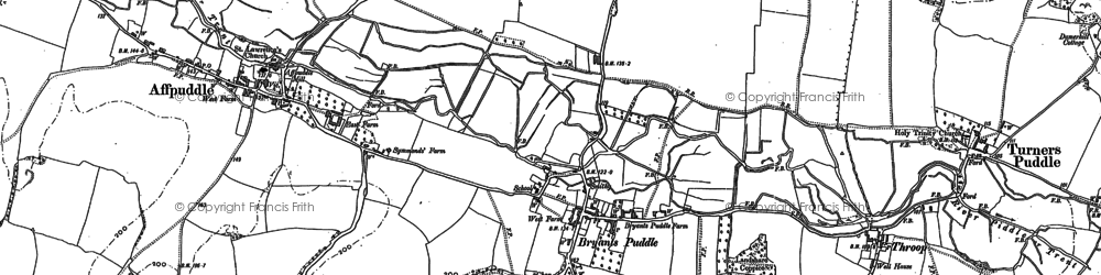 Old map of Ashley Barn in 1885