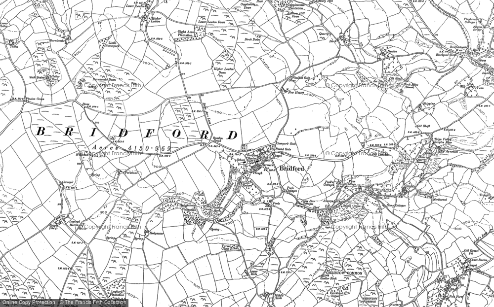 Old Map of Historic Map covering Laployd Barton in 1887