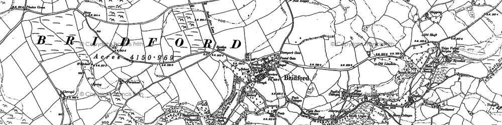Old map of Windhill Gate in 1887