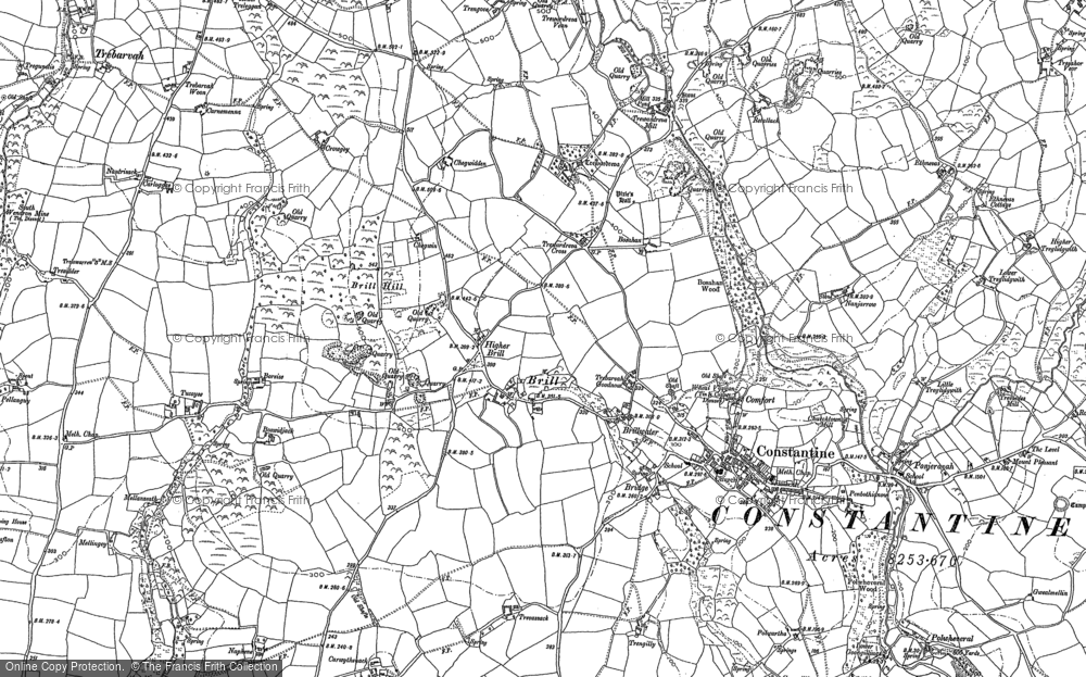 Old Map of Historic Map covering Tolvan in 1906
