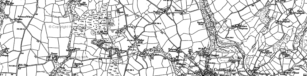 Old map of Tolvan in 1906