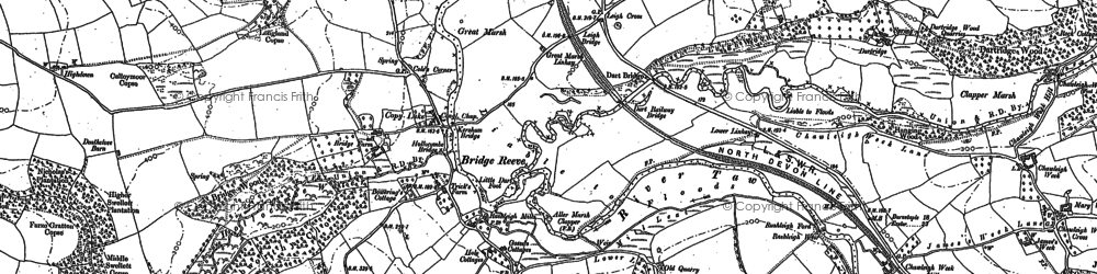 Old map of Winswood in 1886
