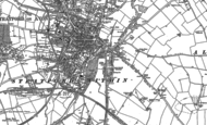 Old Map of Bridge Town, 1883 - 1886
