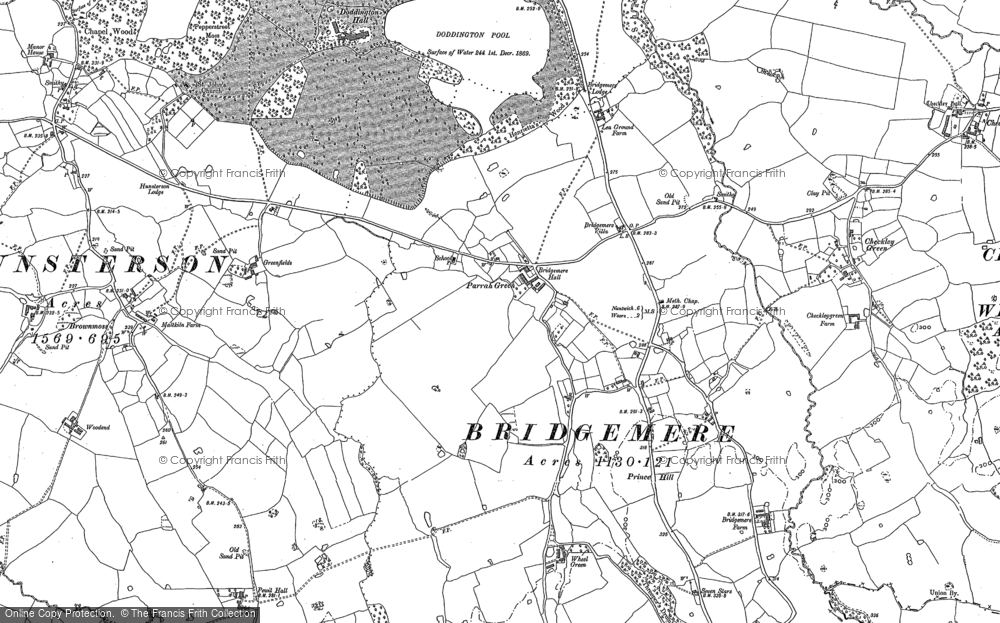 Old Map of Historic Map covering Admirals Gorse in 1897