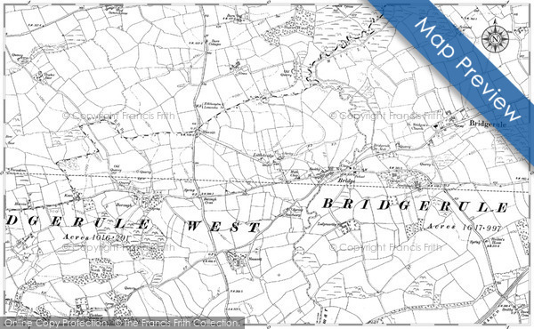 Old Map of Historic Map covering Thurlibeer in 1905
