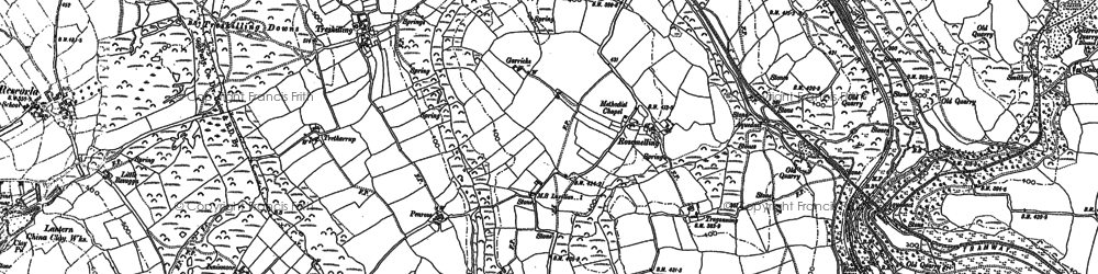 Old map of Tredinnick in 1881