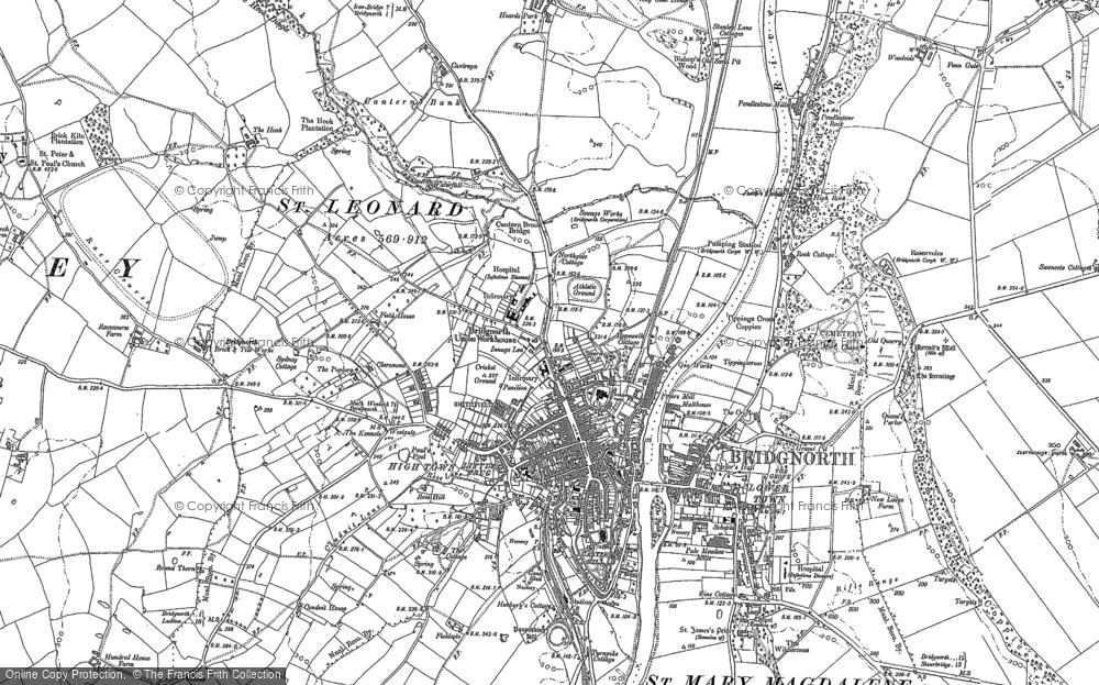 Old Map of Bridgnorth, 1882 - 1901 in 1882